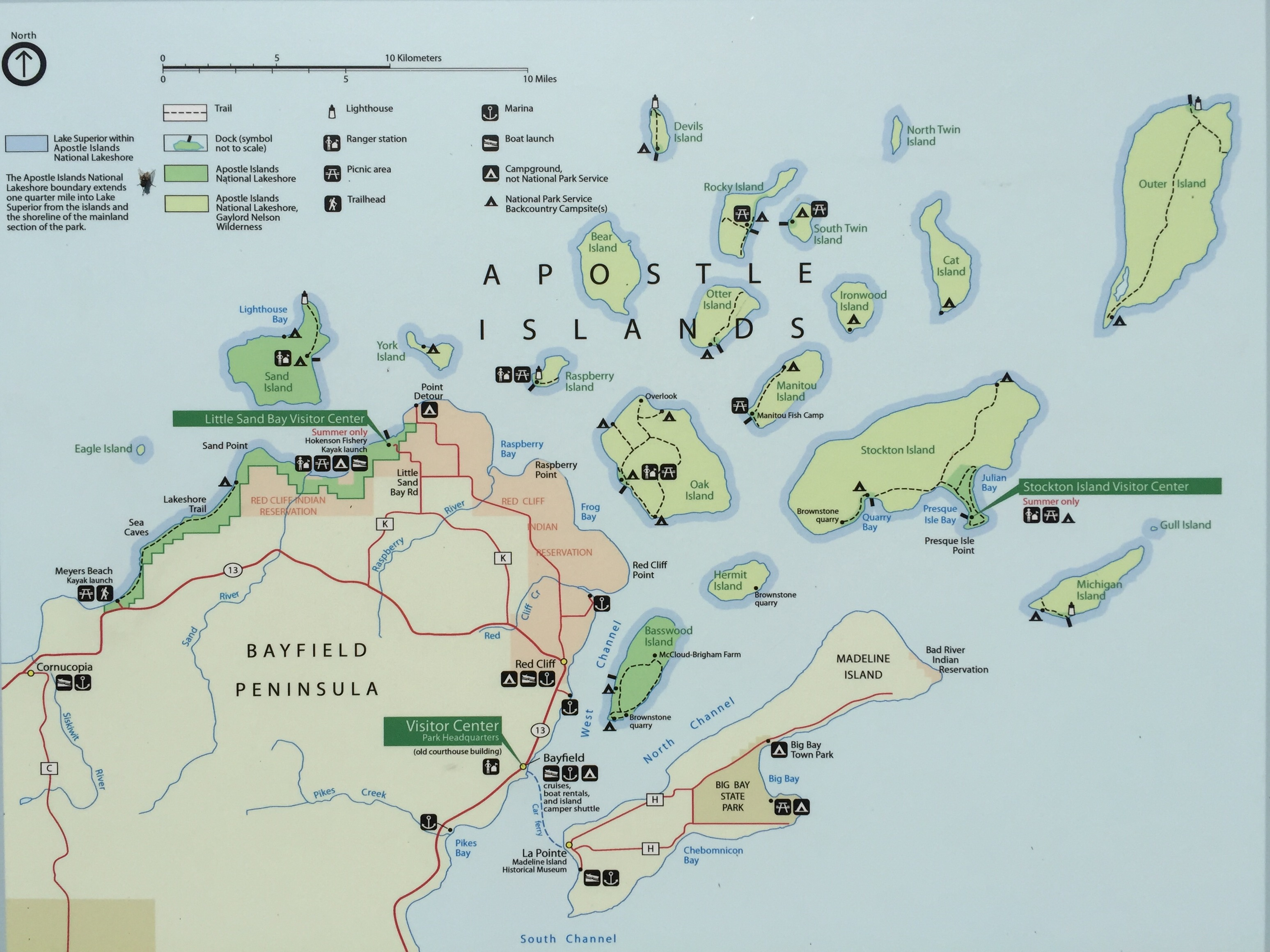 Apostle Islands Map Apostle Islands Map | The Climate Workspace