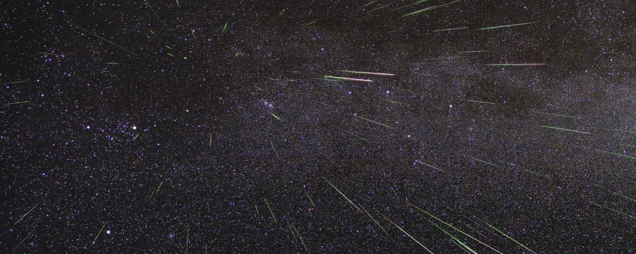 An outburst of Perseid meteors lights up the sky in August 2009 in this time-lapse image. Stargazers expect a similar outburst during next week's Perseid meteor shower, which will be visible overnight on Aug. 11 and 12//Credit: NASA/JPL