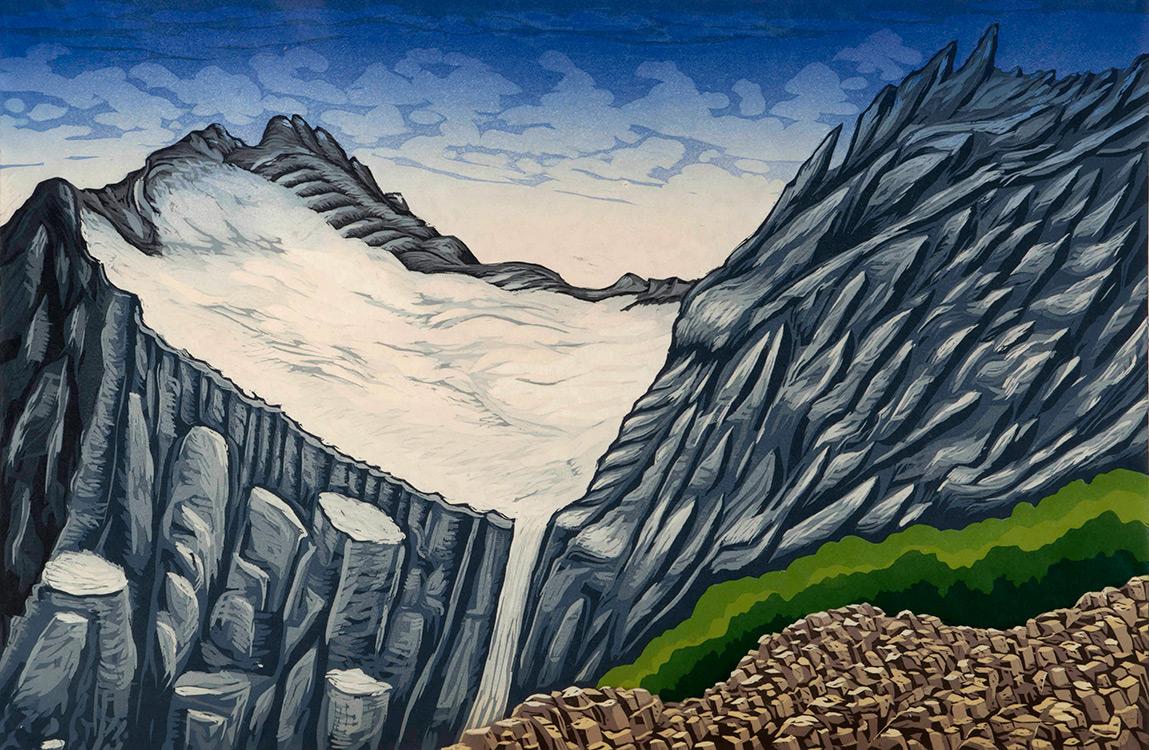 Color printing uw - Bruce Crownover S Print Of Old Sun Glacier In Glacier National Park