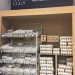 A grocery store in Johannesburg, South Africa displays their eggs on room-temperature shelves. Photo by Kelly Tyrell.