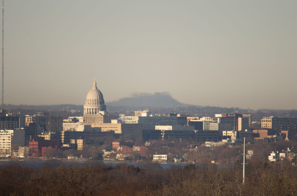 Bloud Mound looms over the Capitol